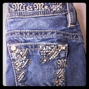 ♥️ Miss Me 12 Boot Cut Jeans Frayed Bottoms!